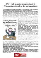 49-3: Valls méprise la souveraineté de l'Assemblée nationale et des parlementaires