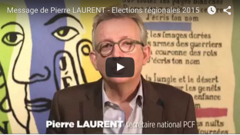 Régionales - Appel de Pierre Laurent